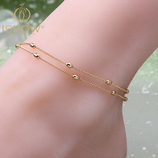 Горячие продажи позолоченные браслеты горячая простой лодыжки цепи женщины ножные ...