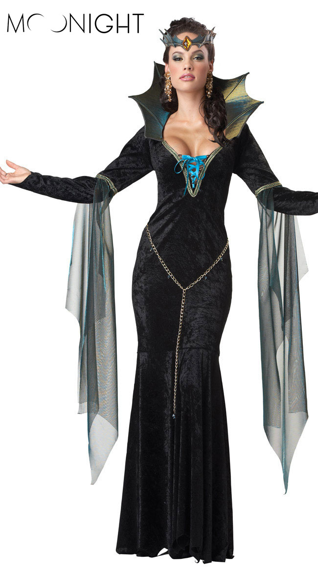 New Witch Halloween Costumes Sexy for Women Witch Gown Cheaper price cosplay witch for girls Free Shipping(China (Mainland))