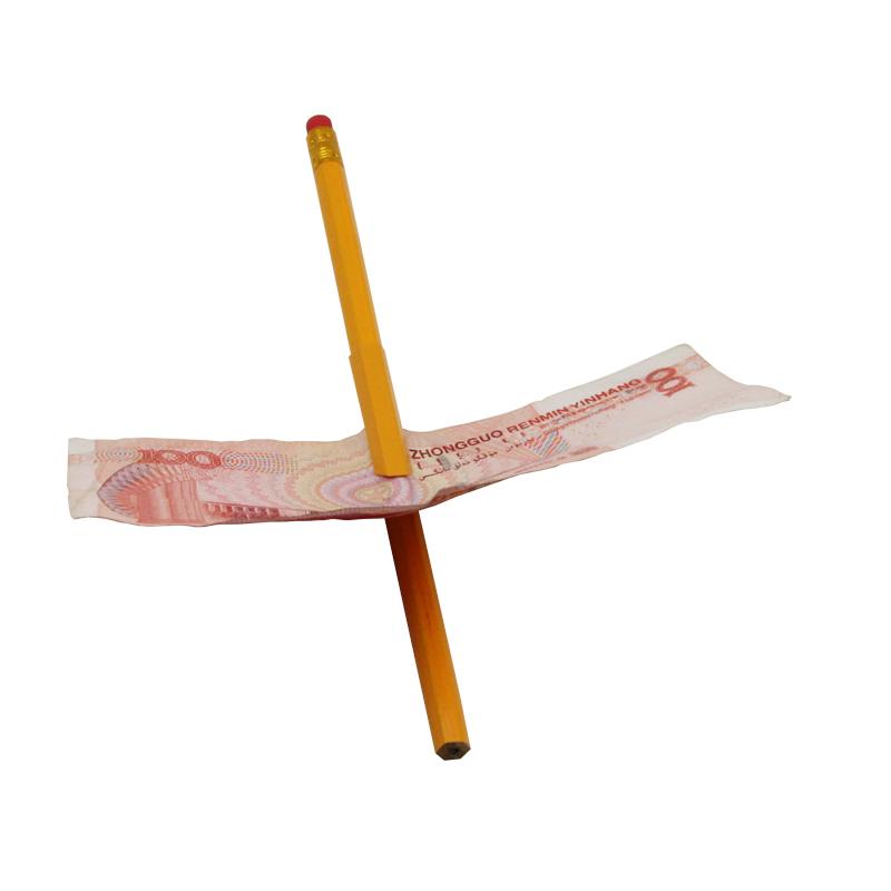 50pcs/lot Pen Penetration Through Paper Dollar Bill Money Magic Trick Tool Street magic show children gift Free Shipping 82111(China (Mainland))