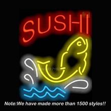 New Sushi Bar neon Beer Bar Pub Light Sign Real Glass Tube Beer Bar Pub Neon Sign Lights for Store Display  Advertising17*14