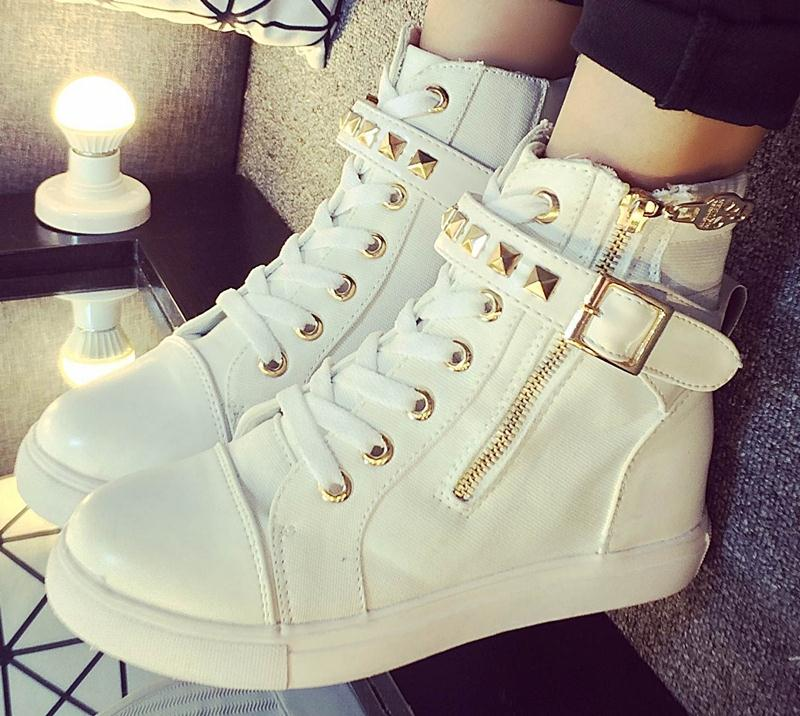 new style winter autumn Canvas leather women ankle boots fashion student Buckle shoes Round Toe casual boots women<br><br>Aliexpress