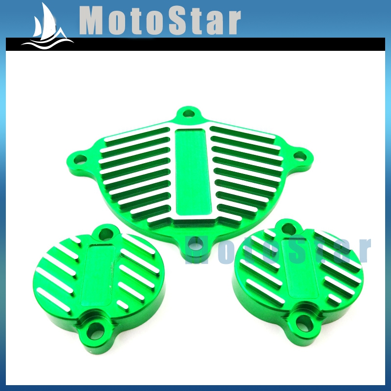 Alloy Cam Cover Valve Cap Dress Up Kit For Chinese YX 160cc 1P60FMK 150cc 1P60FMJ Engine Pit Dirt Motor Bike Motorcycle Green(China (Mainland))