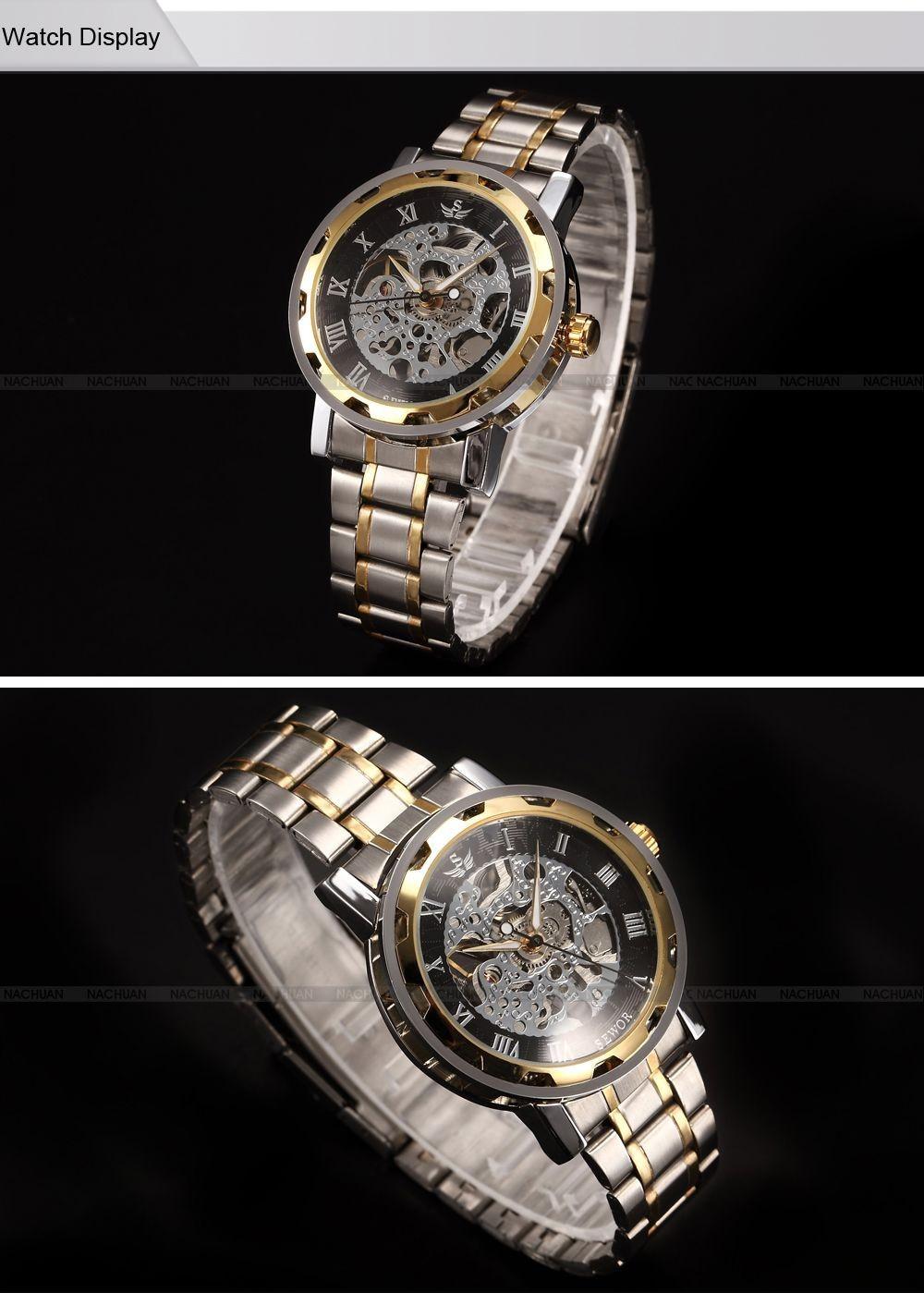 Wholesale Sewor Skeleton Mechanical Watch Brand Steampunk