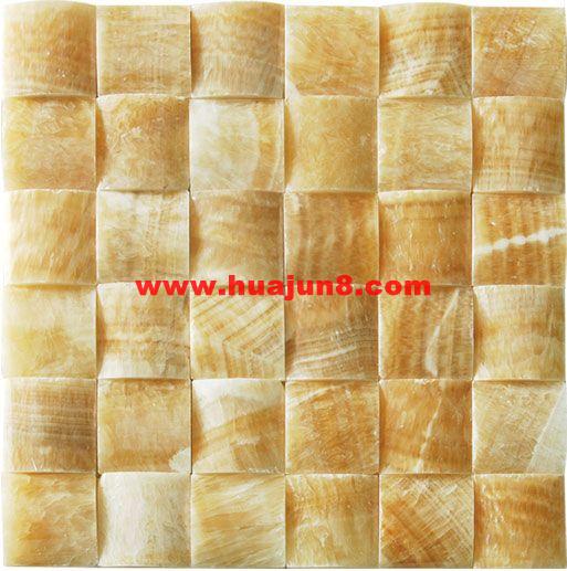 Marbles mosaic tiles(601-0020) for kitchen backsplash or bathroom tile wall-honey onyx polish(China (Mainland))