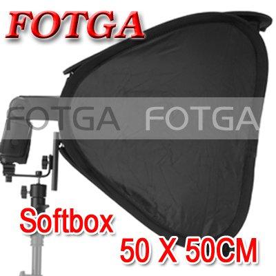 "Wholesale FOTGA 20"" Portable 50cm Softbox Soft Box for Flash Light Speedlite Photo Speedlight(Hong Kong)"
