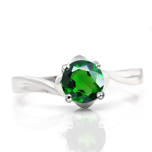 Natural Diopsite Ring 925 Sterling Silver Russian Emerald jewelry Fashion Elegant Fine Woman Handmade Birthstone SR1196di - Eternal Gift store