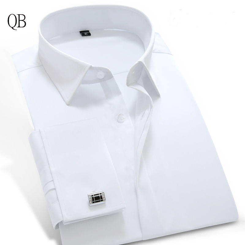Compra camisa de manga larga para hombre de seda online al for Tuxedo shirt covered placket