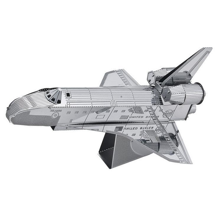 2015 new hot plane model kit Space shuttle atlantis 3D Metal Laser Cutting DIY puzzle jigsaw toys best birthday gifts free ship(China (Mainland))