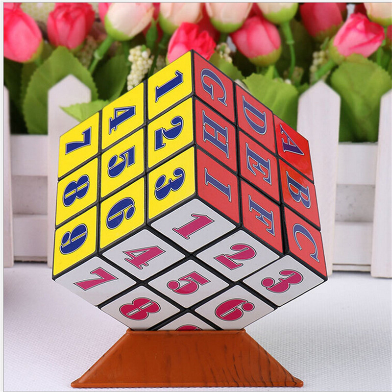 2016 Hot sale new arrive Factory direct digital advertising 9cm Magic Cube cheap educational toys(China (Mainland))