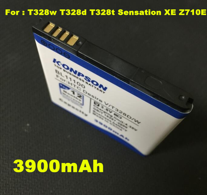 KPS 3900mAh BL11100 Battery Use for HTC Desire V/VC/VT T328w T328d T328t Sensation XE Z710E G14 G17 EVO 3D X515d X515m(China (Mainland))