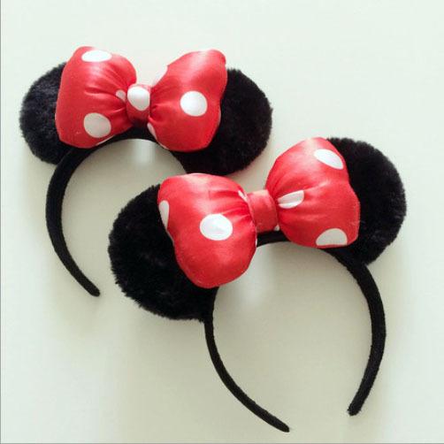 2015 fashion New Design cartoon cute Hair Sticks Headwear Bow Hair bands minnie mouse ears headband for women girls lady baby(China (Mainland))
