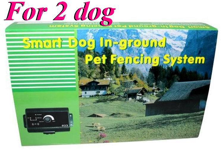 120pcs/lot* (for 2 dog) Electric Dog Fence Radio Containment System In-ground trainning smart dog in-ground pet fencing system(China (Mainland))