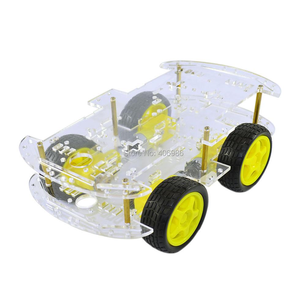 DC 3V 5V 6V 4WD Robot Smart Car Chassis Kits car with Speed Encoder for Arduino FZ1620(China (Mainland))