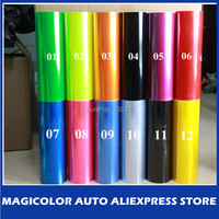 30cm x200cm glossy Auto Car taillight Film Green/Yellow/Red/Black/Orange/Pink/Blue/Purple Color Headlight Film/Tint