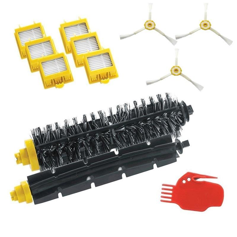 3 Side Brush+ 6 HEPA Filter +1 Bristle Beater Brush for iRobot Roomba 700 Series Vacuum Cleaner Robots 760 770 780 790(China (Mainland))