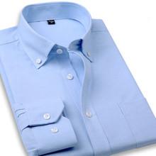 Social Shirt New Slim Fit Shirt Men Long Sleeve Shirt Classic Men Dress Shirts Business Male Casual Pure Color Camicie Uomo 4XL