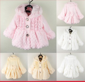 Free shipping Autumn and winter childrens clothing baby clothes child plush outerwear baby clothes female child autumn princess<br><br>Aliexpress