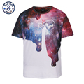 Mr BaoLong brand Plus Size L 3XL designer galaxy and Milk barrels printing t shirt men