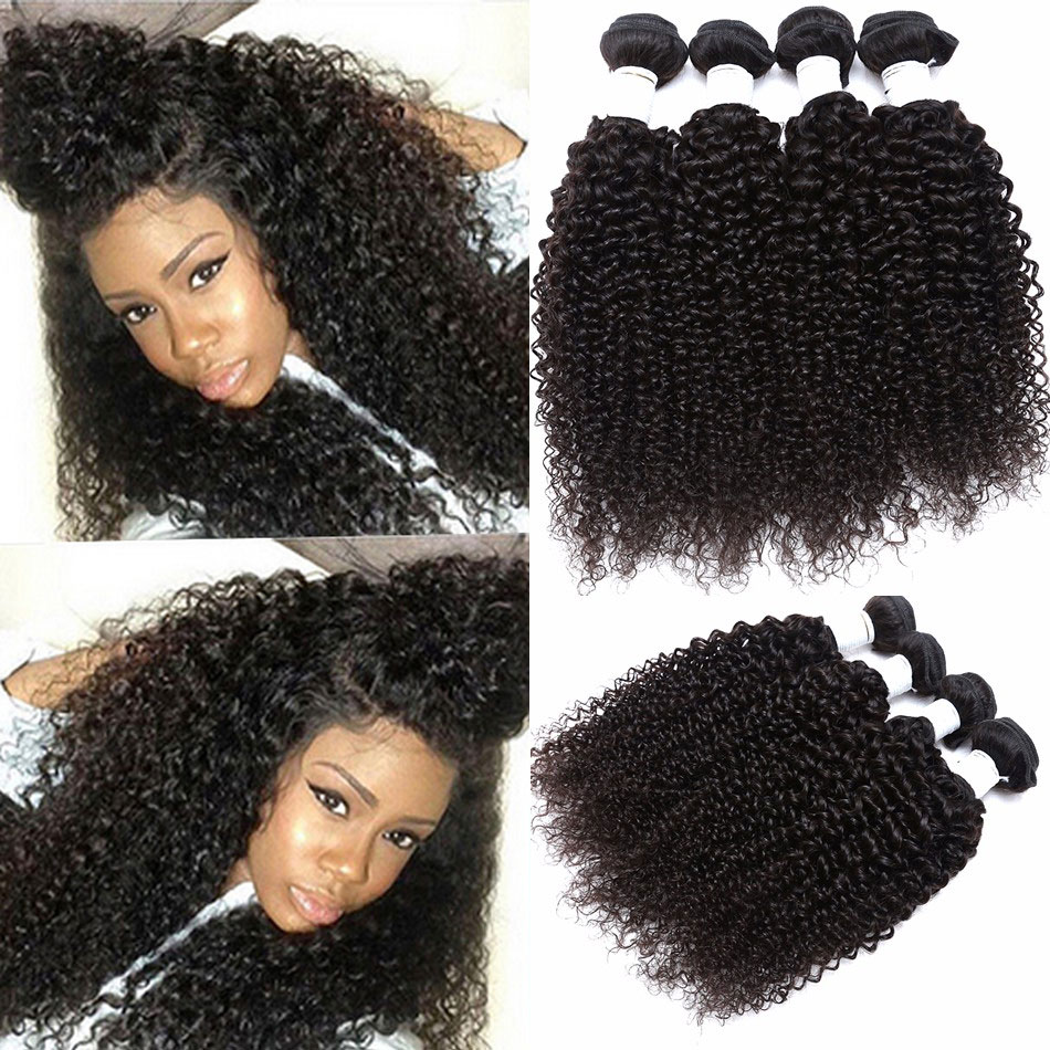 brazilian kinky curly virgin hair 4 pcs afro kinky curly hair 7A brazilian kinky curly human hair brazilian hair weave bundles(China (Mainland))