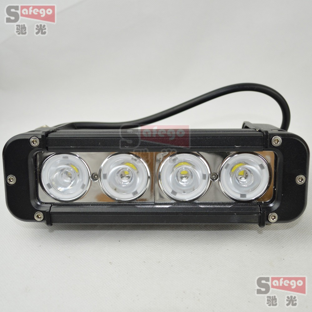 2pcs 8 Inch 40W IP68 Cree LED Light Bar with Flood Spot Beam for 4WD 4x4 Offroad Jeep Truck Car Mining Boat LED Work Light