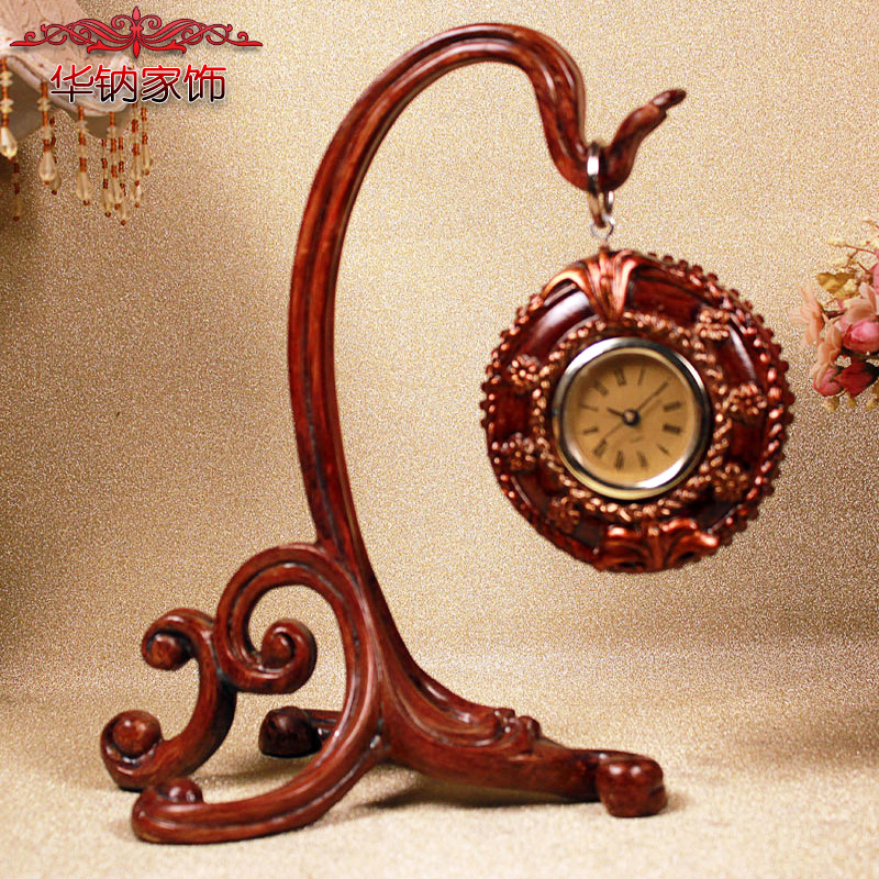 European classical resin crafts decorative ornaments and crafts Home Furnishing shuteng clock(China (Mainland))