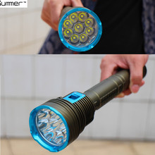 18000 LM Underwater LED Diving Flashlight XM-9xL2  Diver Torch Light Defensive tactical flashlight Outdoor hunting camping lamp(China (Mainland))