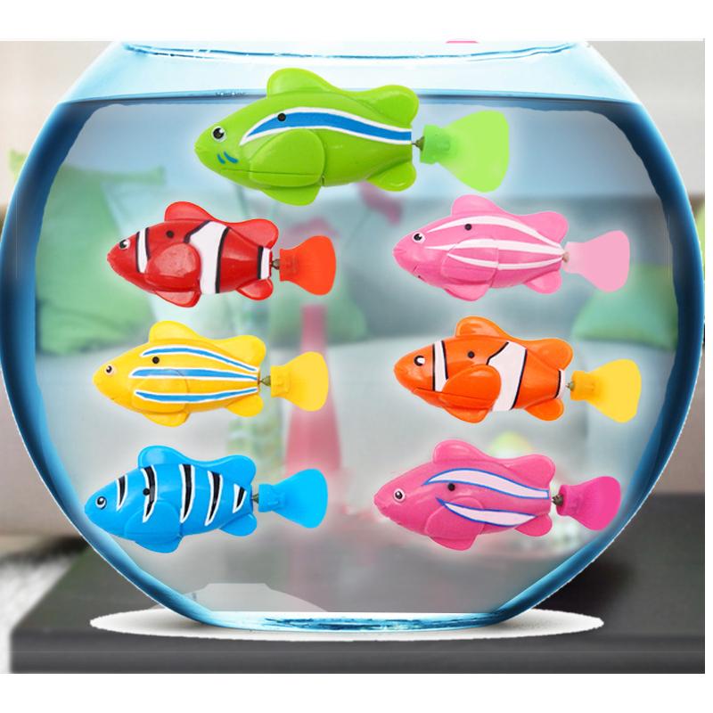 1pc Cute Robofish Activated Battery Powered Robo Fish Toy Fish Robotic Fish Tank Aquarium Ornaments Decorations(China (Mainland))