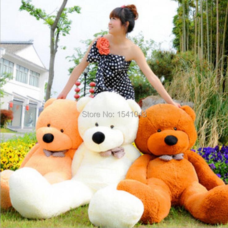 "Stuffed Teddy Bear Giant Big Cute /Purple/Pink/Beige/Brown Plush Huge Soft Cotton Toy 120cm/47""(China (Mainland))"