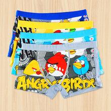 New Boys Cartoon Panties Bamboo Fiber Cool Breathable Birds Briefs Children Boxer Next Brand Underwear Kids Shorts Free Shipping(China (Mainland))