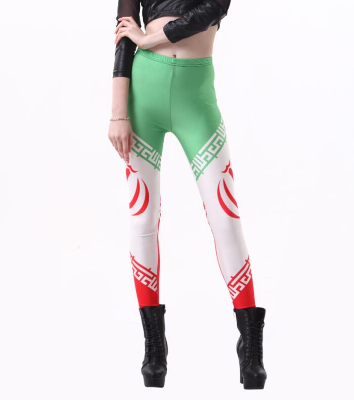 Sexy Punk New 2014 World Cup Legging Flag of Iran Digital ...