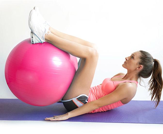 2015 New 55cm Yoga Ball Health Balance Pilates Fitness Gym Home Exercise Sport,Gray,Pink,Blue,Purple Color(China (Mainland))