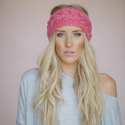 2017 New Stretchy Wide Head Band for Girl and Woman Hair Wide Turban Headwrap Women Bandanas Headband 1pc Knit wrap weave knited(China (Mainland))
