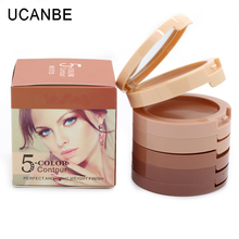 Hot Make Up 5 Colors Contour Palette Natural Camouflage Face Concealer Cream 3D Contouring Cosmetics Perfect Makeup Foundation(China (Mainland))