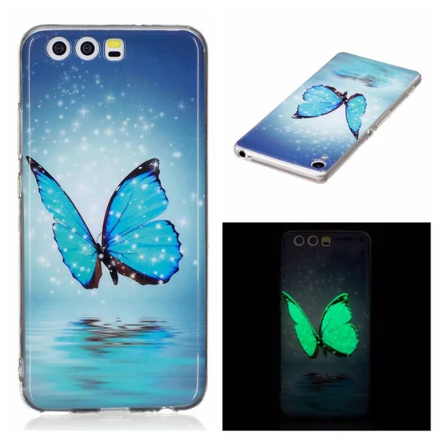 Night Light Glow Luminous TPU Back Case for Huawei P10 Fashion Noctilucent Soft Light Silicon Capa Cover(China (Mainland))