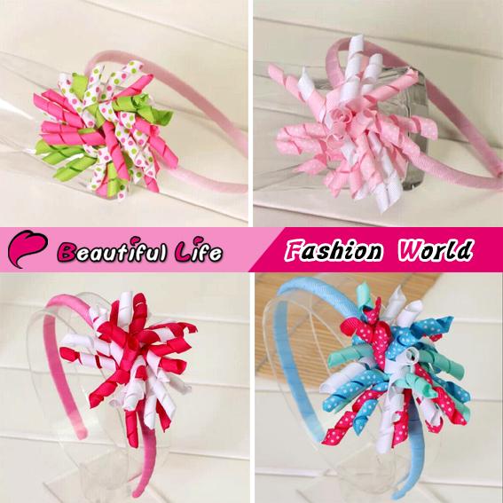 New European & America Style Geometric Fabric Baby Hairband Mix Color Ribbon Headbands For Kids Girl Cute Children Hair Headwear(China (Mainland))