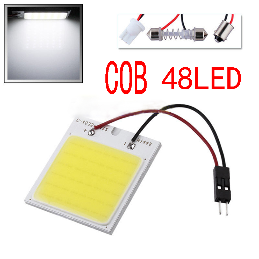 c5w cob 48 SMD chip super White Reading Lamp 12v led dome Bulb led Car parking Auto Interior Panel Light t10 Festoon car styling(China (Mainland))