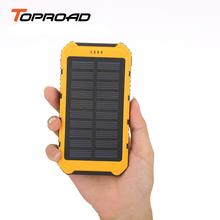 Portable Solar Charger Powerbank Box 6000mAh Universal Dual USB Bateria Externa Solar Panel 5V Backup Battery for Mobile Phones