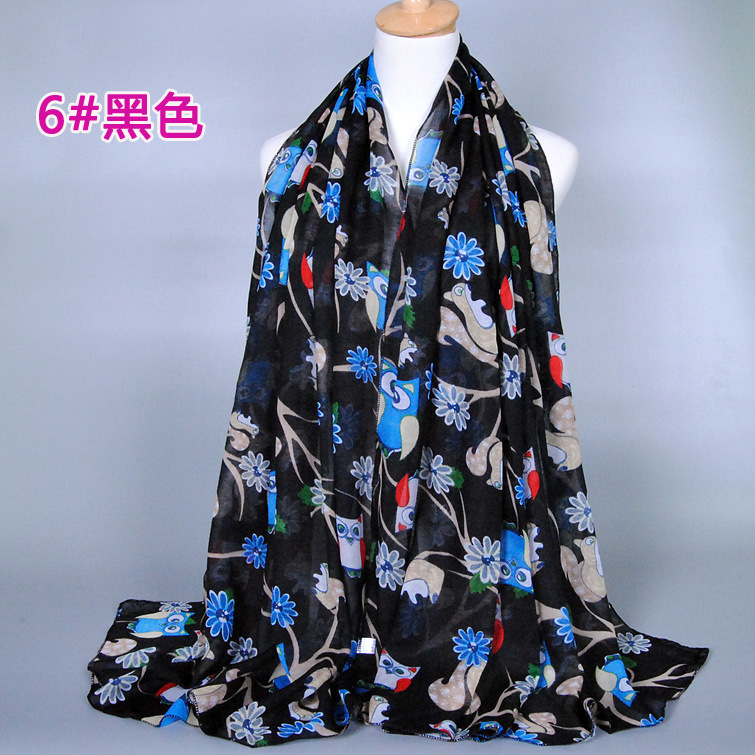 New arrive High-Grade Cachecol Bamboo Cotton Scarves Owl Pattern Scarf Lencos De Pescoco 180*95cm Wholesale(China (Mainland))