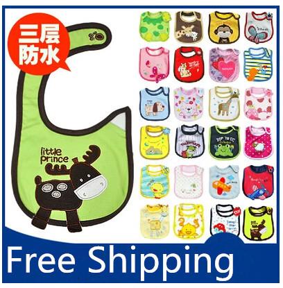 Child Newborn Baby 100% Cotton Burp Cloths Three Layers Waterproof Bib Cartoon Bibs Rice Pocket CH005 - Online Store 934412 store