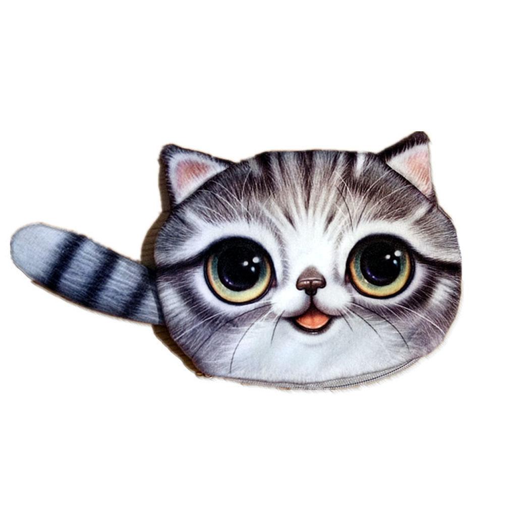 New Small Tail Cat Coin Purse Cute Kids Cartoon Wallet Kawaii Bag Coin Pouch Children Purse