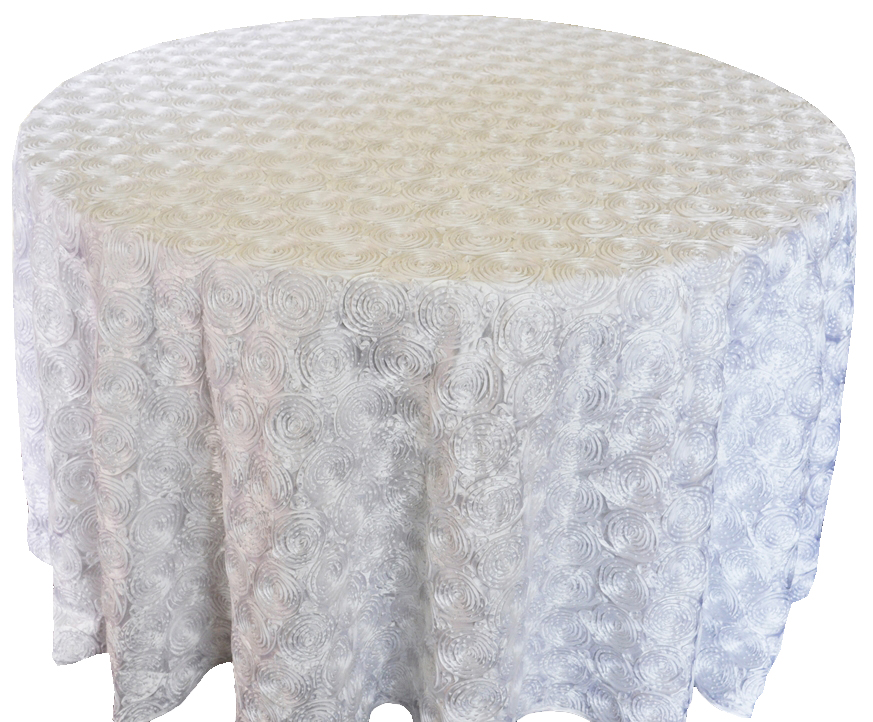 Rosette Tablecloth Round Tablecloth Embroidered Tablecloth Wedding Table Cloth White Tablecloths Wedding Table Decoration(China (Mainland))