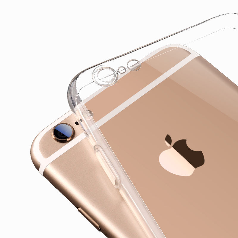 For iPhone6 TPU Soft Case Protect Camera Cover Crystal Clear Transparent Silicon Ultra Thin Slim Shell for iPhone 6s Plus(China (Mainland))