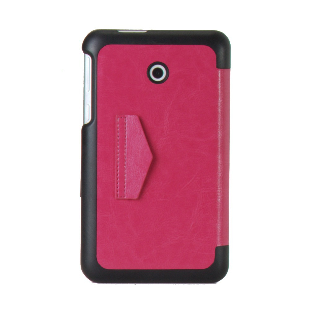 Luxury Slim Magnetic Cover Stand Folding Folio Leather Case For Asus MeMo Pad 8 ME 180A D0287(China (Mainland))