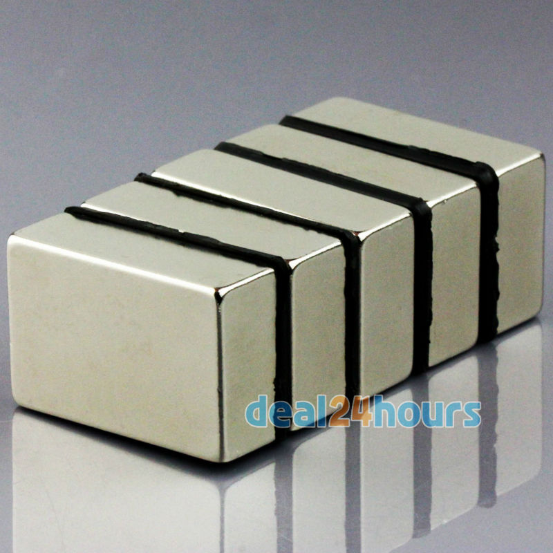 Гаджет  5PCS N50 Bulk Super Strong Strip Block Bar Magnets Rare Earth Neodymium 30 x 20 x 10 mm Lot Free Shipping None Строительство и Недвижимость