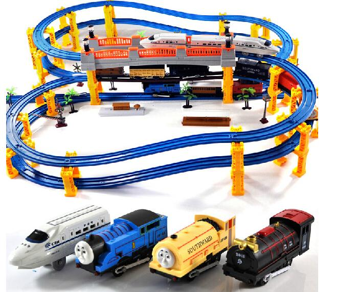 2013 New Hot Multicolor Slot Plastic Cement Track Trains Sets Toys for Children Colorful 2010a Moq:1 Set(119pcs) Free shipping(China (Mainland))