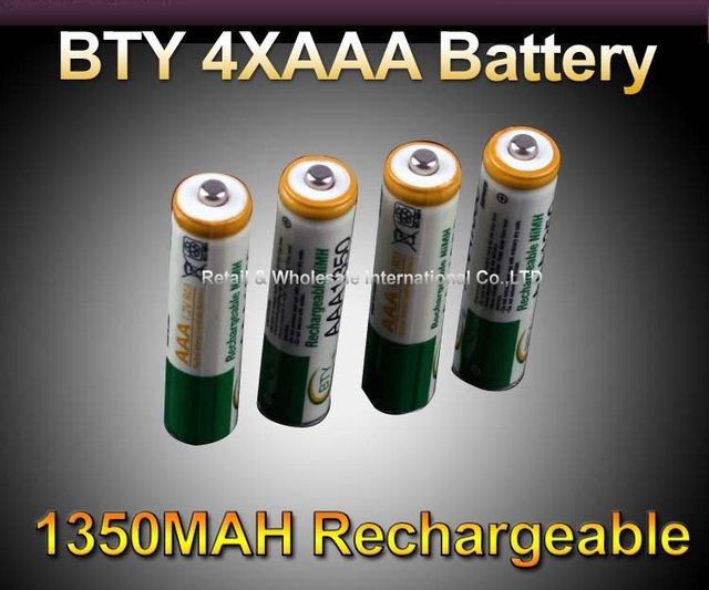 4X AAA 1350mAh 1.2V Ni-MH Rechargeable Batteries Pack DC915