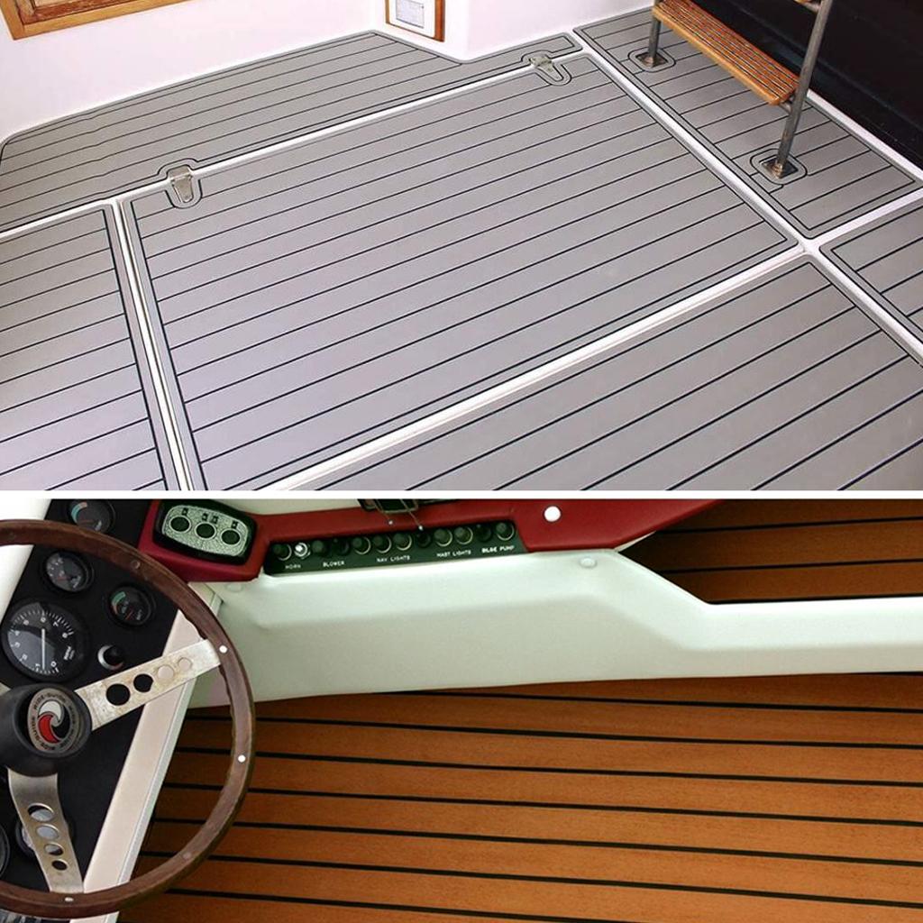 Self-Adhesive Marine Boats Flooring EVA Foam Yacht Non-skid Teak Decking Sheet Car RV Carpet Pad 240x45cm Boat Yachts Accessory