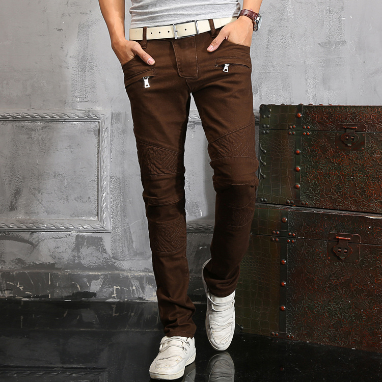 Hot Sale Slim Low Softener 2015 Hot Mens Designer Jeans Famous Brand Simplicity Small Cotton Denim