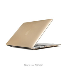 Free Shipping Champagne Gold Hard Case Cover For Macbook Air 11 13 / Pro 13 15 + Retina(China (Mainland))