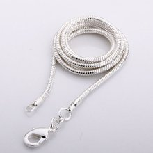 Buy C010 2mm Factory Price Free Silver Color 2mm Snake Necklace Chain Fashion Jewelry Chains for $2.31 in AliExpress store